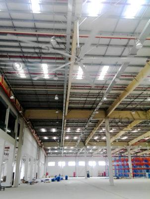 Quạt trần công nghiệp HVLS- Quạt sải cánh dài cho nhà máy