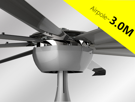 Industrial ceiling big fan HVLS Airpole Series 7