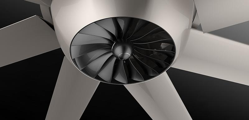 Industrial ceiling fan HVLS Diamond Series