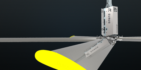 Industrial ceiling fan HVLS eurus SERIES