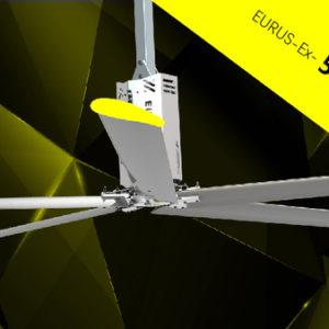 quạt trần công nghiệp hvls eurus ex cánh dài 5,5 m