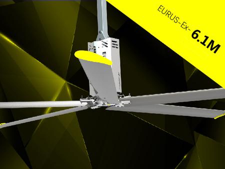 quạt trần công nghiệp hvls eurus ex cánh dài 6,1 m