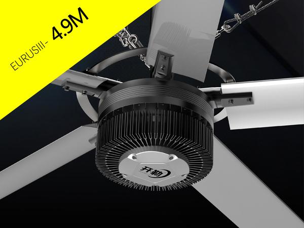 Quạt trần công nghiệp eurus 3 cánh dài 4,9 m